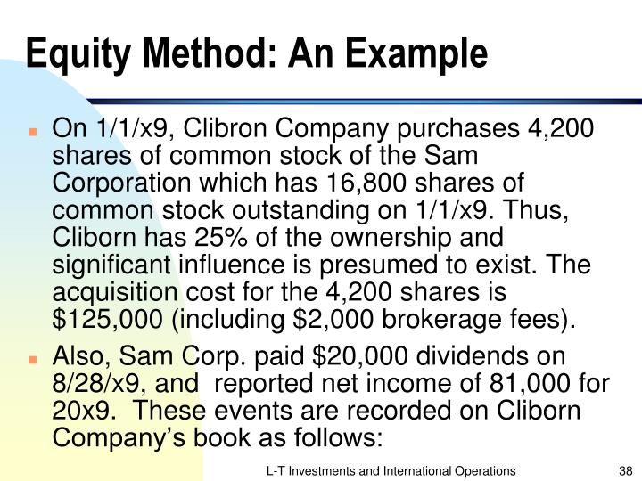 Equity Method: An Example