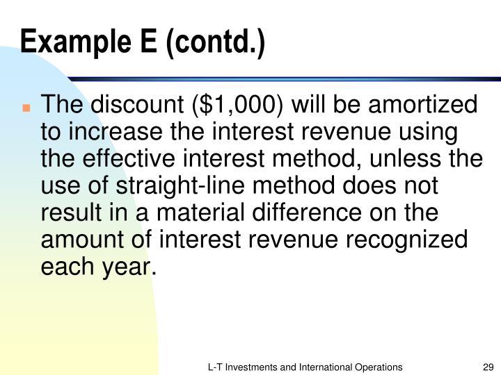 Example E (contd.)