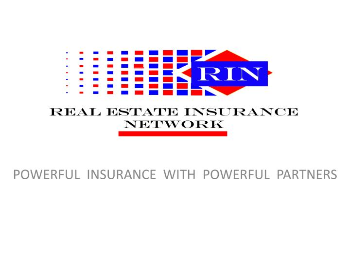 powerful insurance with powerful partners n.