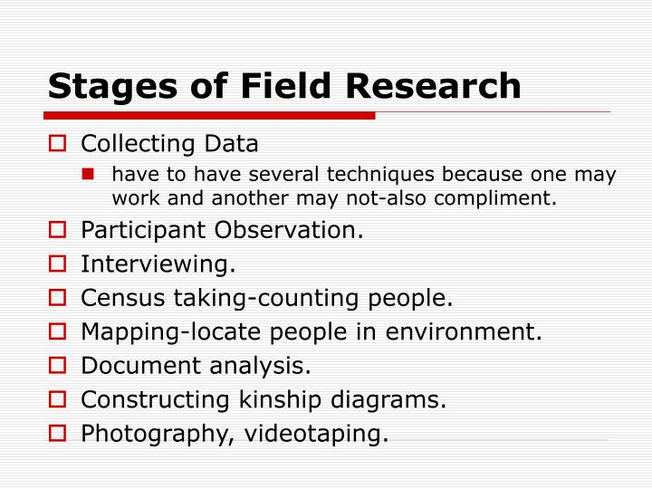 Stages of Field Research