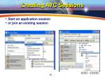 creating avc sessions