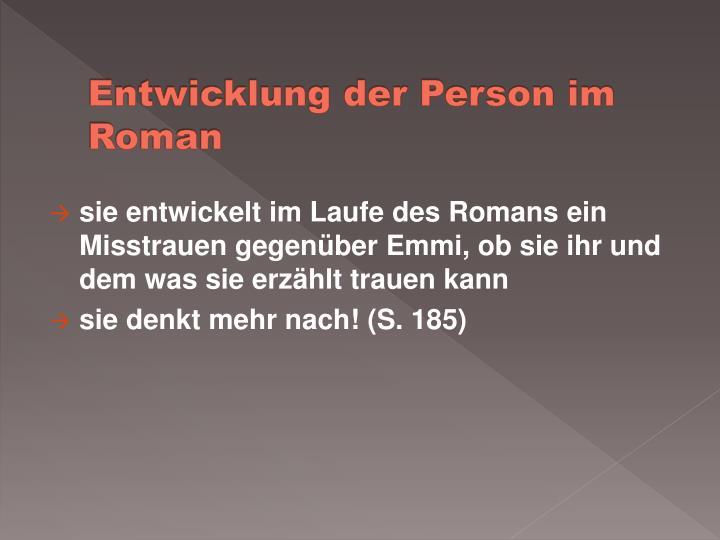 Entwicklung der Person im Roman
