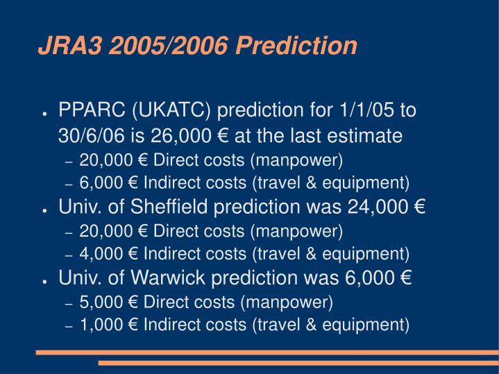 JRA3 2005/2006 Prediction