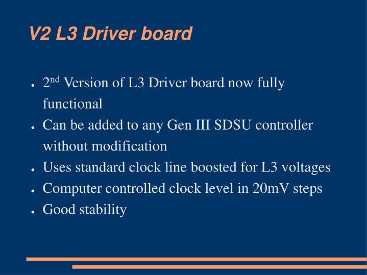 V2 l3 driver board