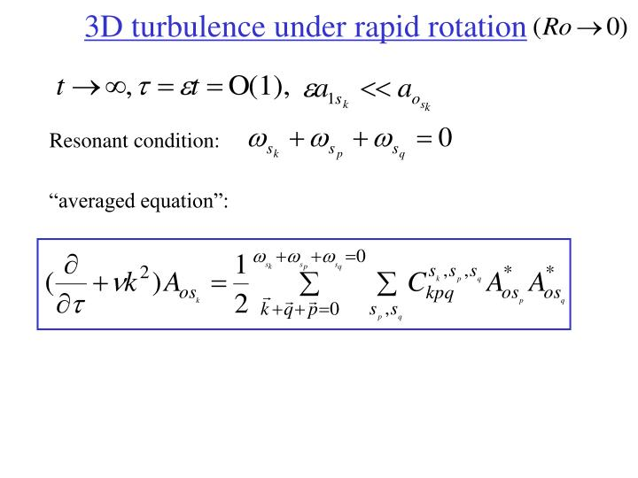 3D turbulence under rapid rotation