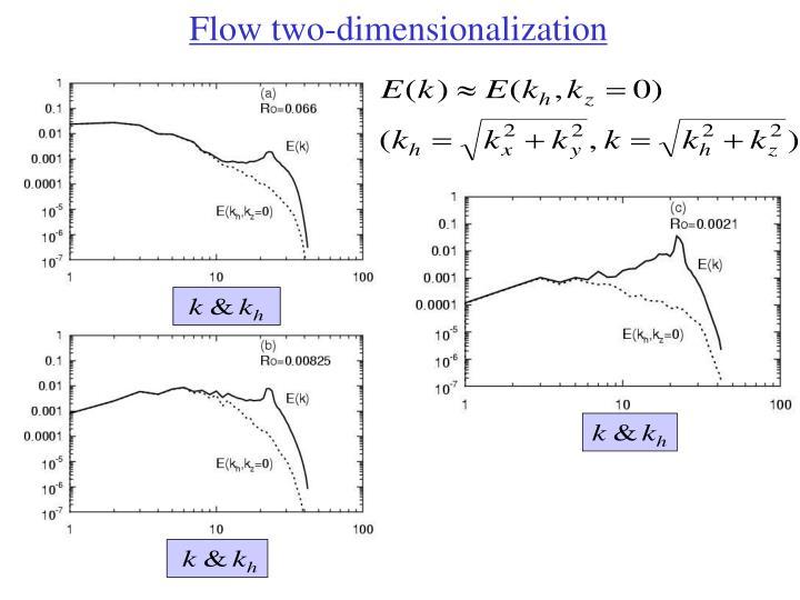 Flow two-dimensionalization