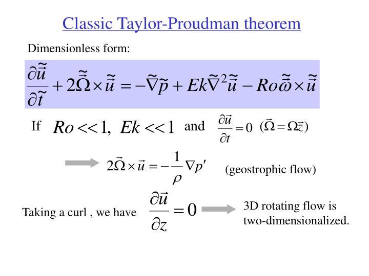 Classic Taylor-Proudman theorem