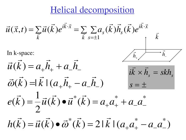 Helical decomposition