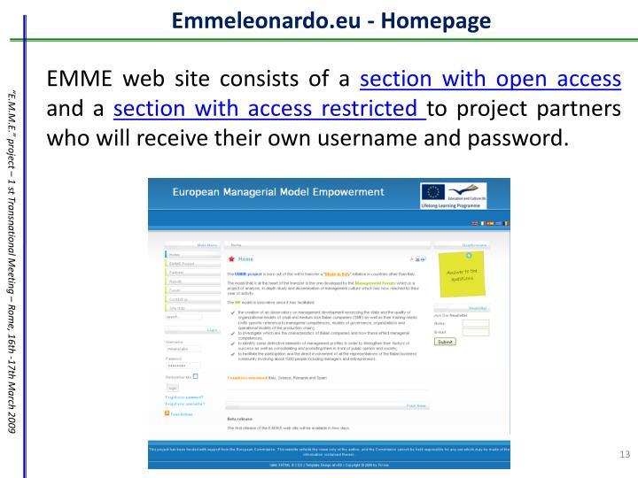 Emmeleonardo.eu - Homepage