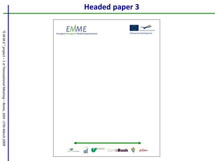 Headed paper