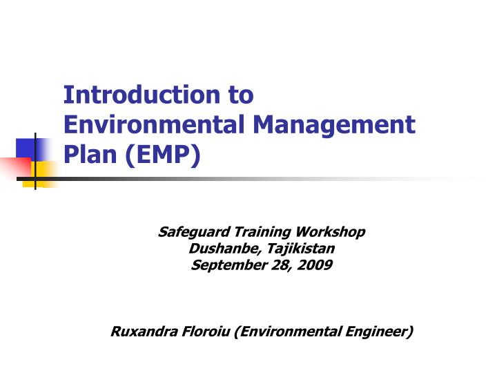 Ppt Introduction To Environmental Management Plan Emp Powerpoint Presentation Id 4064167