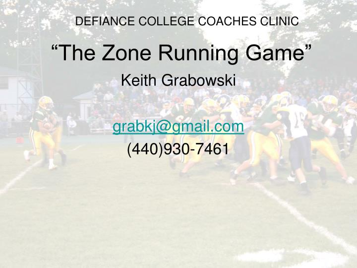 the zone running game n.