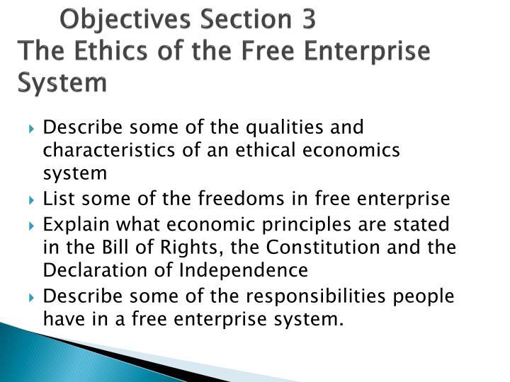 list three characteristics of the free enterprise system