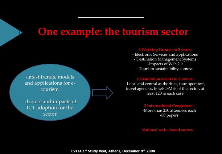 One example: the tourism sector