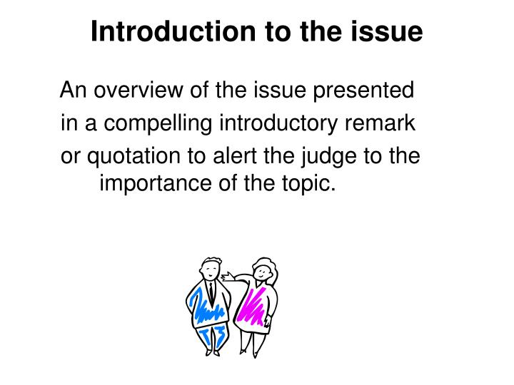 Introduction to the issue