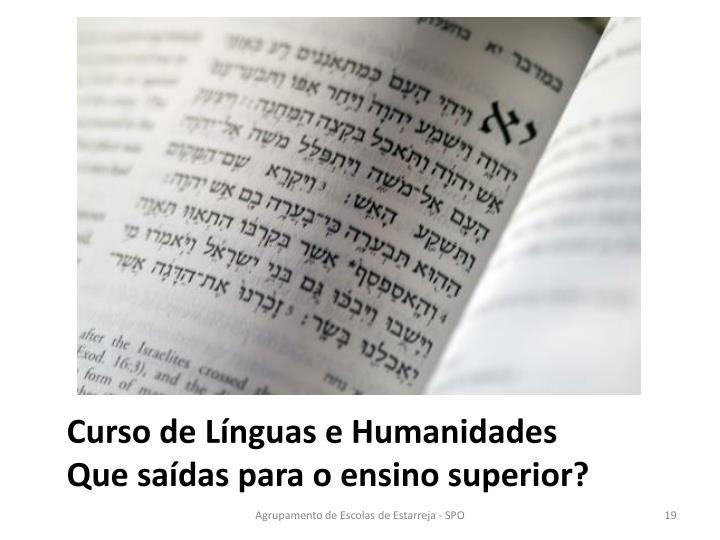 Curso de Línguas e Humanidades