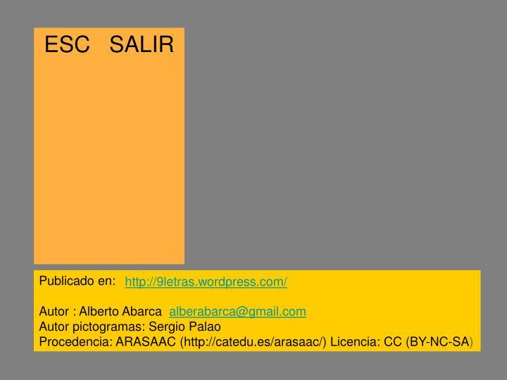 ESC   SALIR