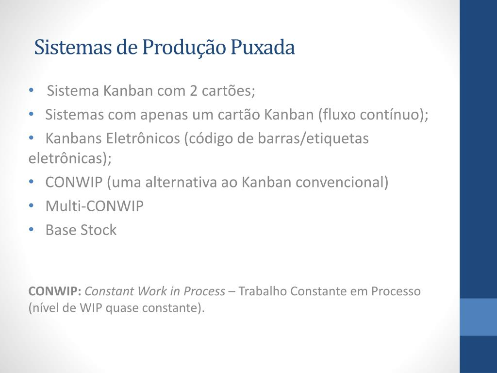 Ppt Sistema Puxado De Produção Powerpoint Presentation