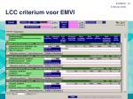 lcc criterium voor emvi1