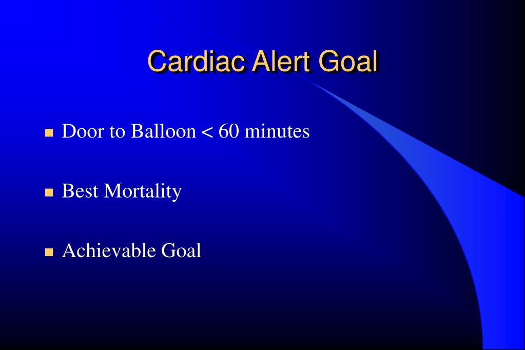 Ppt Cardiac Alert A Change In Process Results Of A