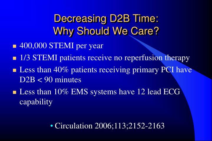 Decreasing D2B Time: