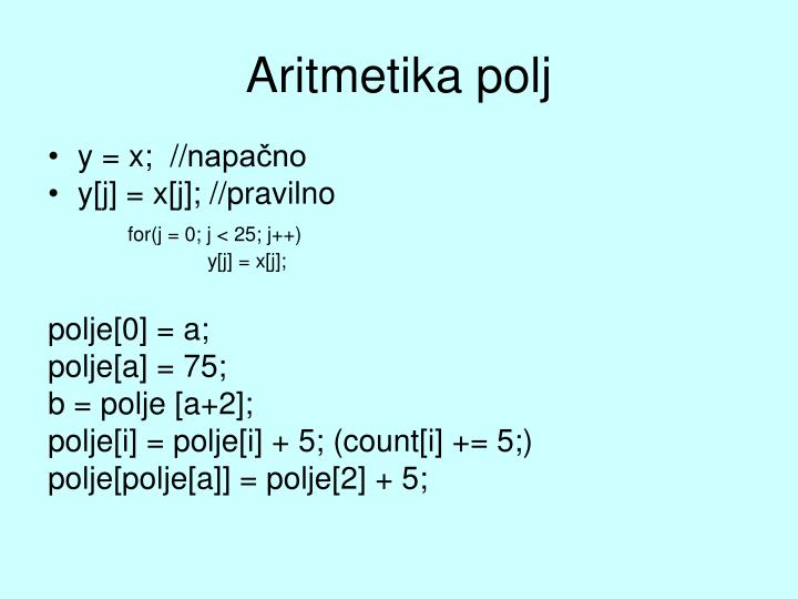 Aritmetika polj