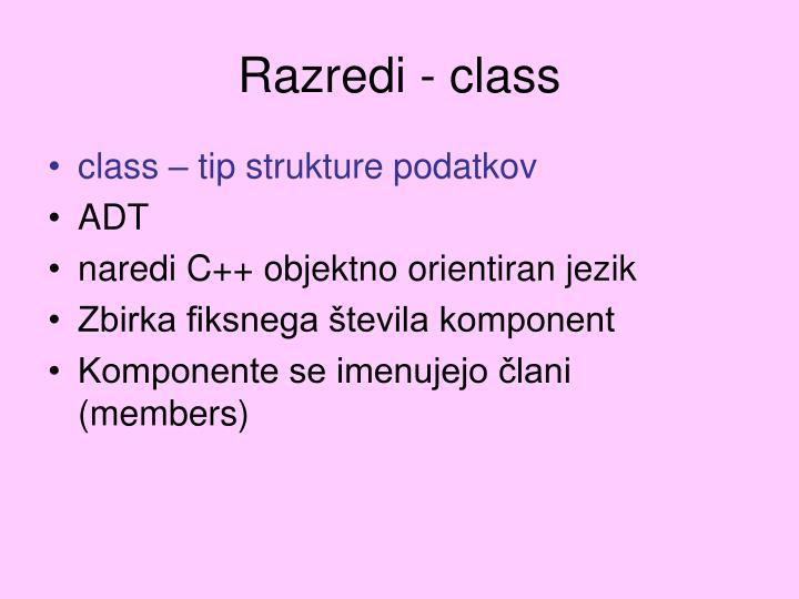Razredi - class