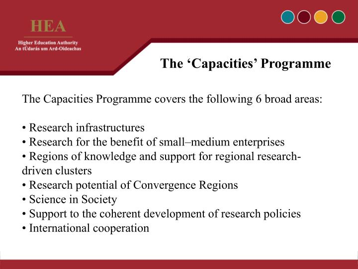 The 'Capacities' Programme