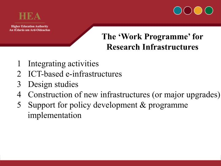 The 'Work Programme' for
