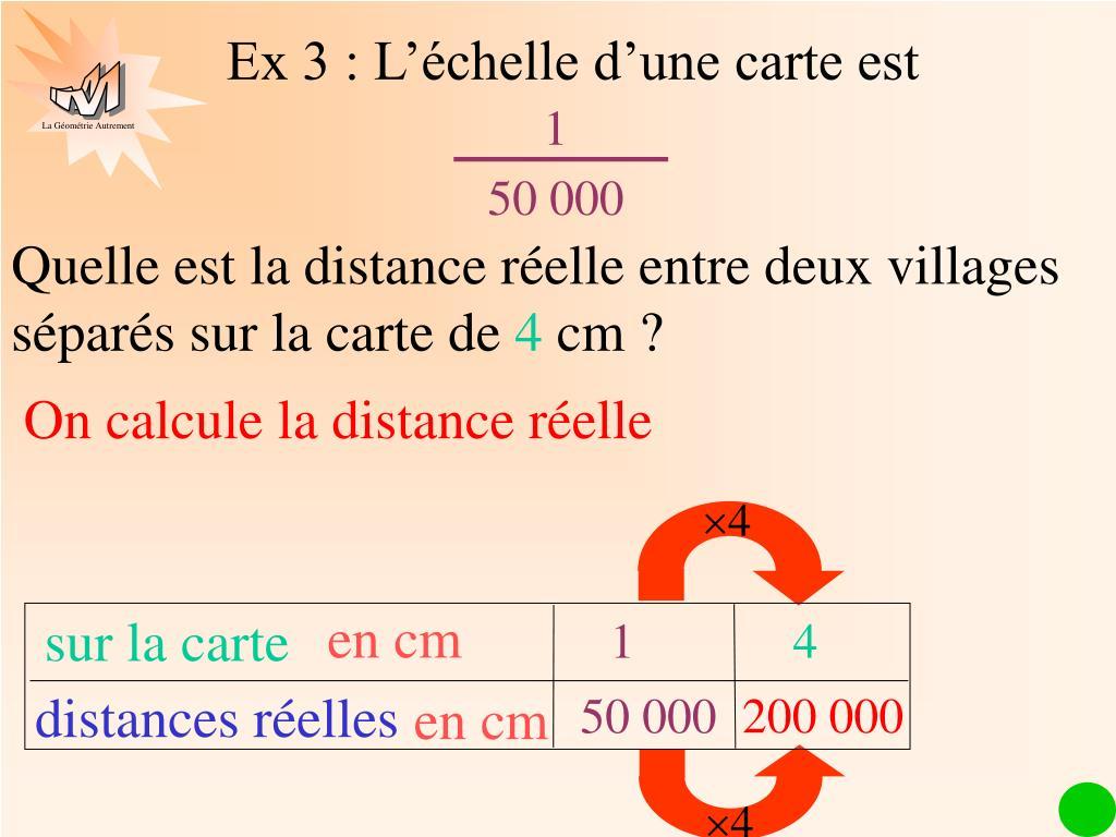 comment calculer l échelle d une carte PPT   ECHELLE PowerPoint Presentation, free download   ID:4065398