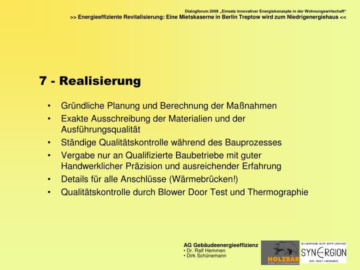 7 - Realisierung