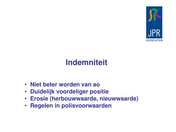 Indemniteit