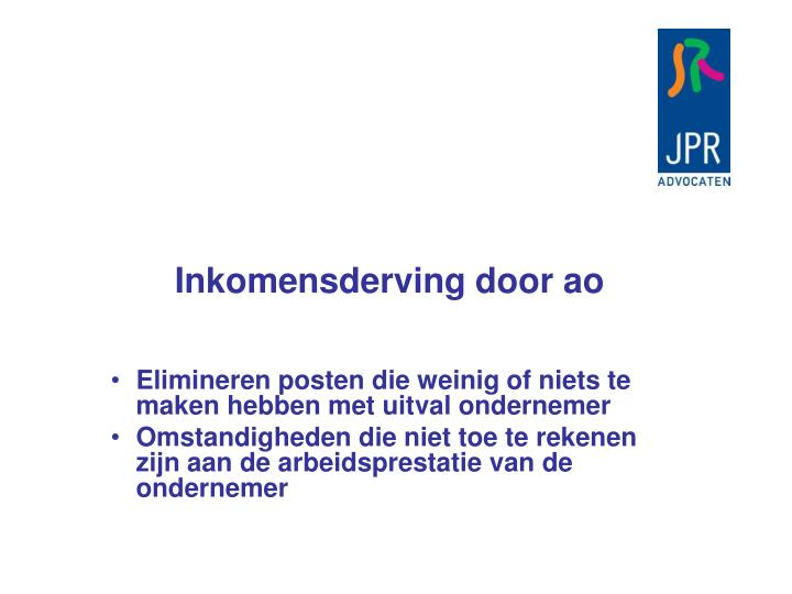 Inkomensderving door ao