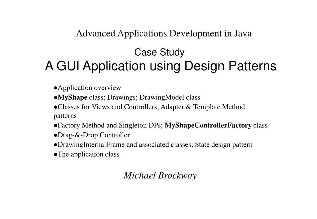 PPT - Case Study A GUI Application using Design Patterns