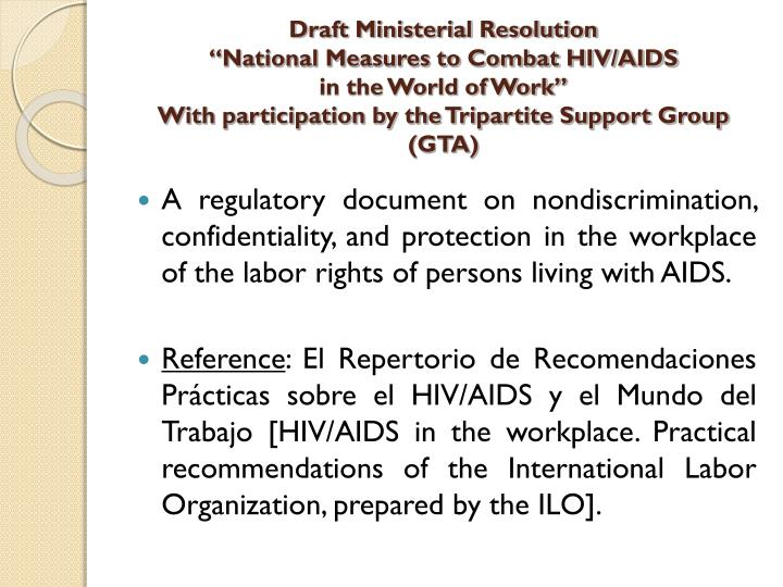 Draft Ministerial Resolution
