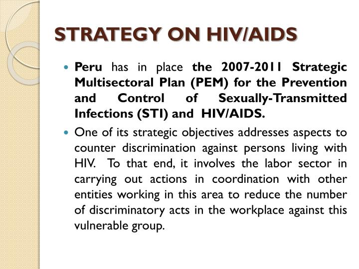 STRATEGY ON HIV/AIDS