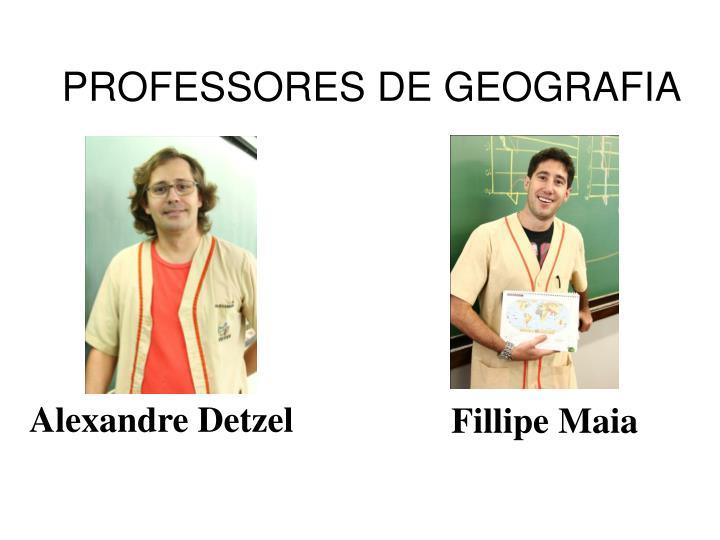 PROFESSORES DE GEOGRAFIA