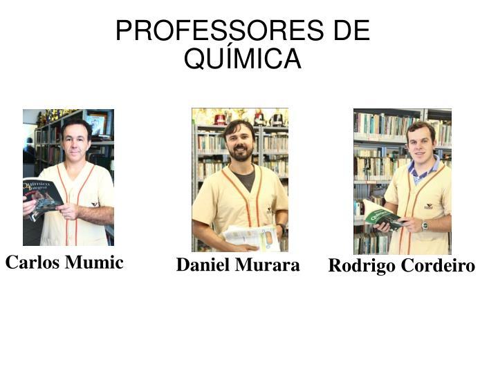 PROFESSORES DE QUÍMICA
