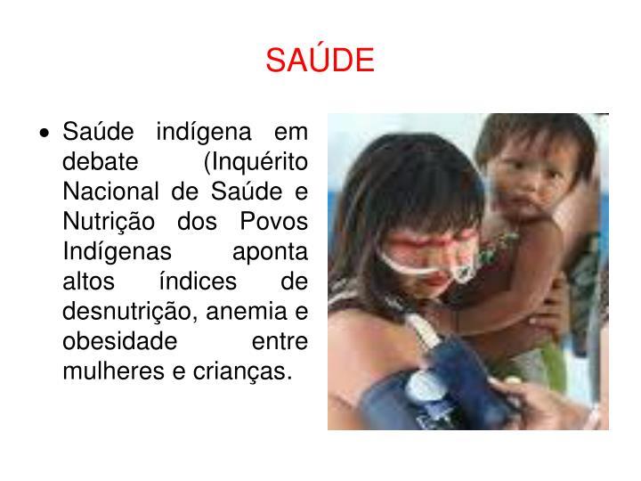 Saúde indígena em debate (Inquérito Nacional de Saúde e Nutrição dos Povos Indígenas aponta altos índices de desnutrição, anemia e obesidade entre mulheres e crianças.