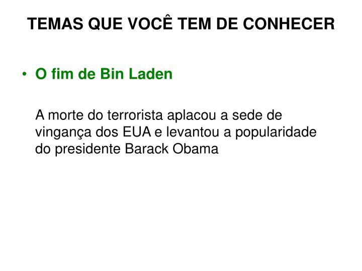O fim de Bin Laden