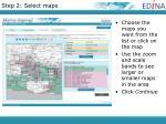 step 2 select maps