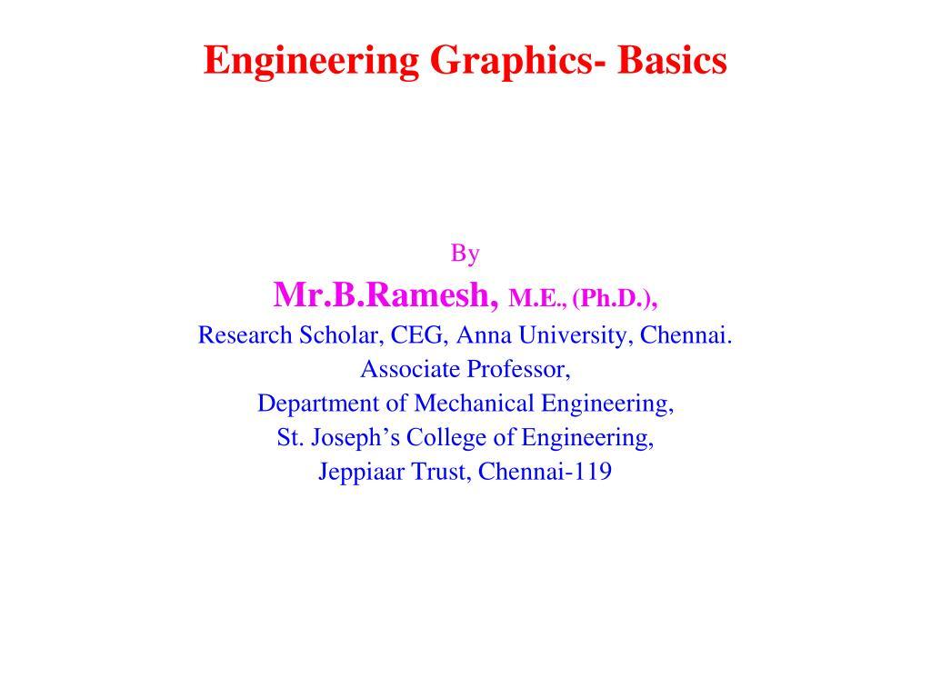 Engineering graphics basics ppt