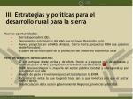 iii estrategias y pol ticas para el desarrollo rural para la sierra2