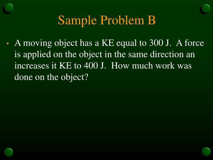 Sample Problem B