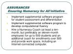 assurances ensuring numeracy for all initiative1
