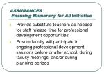 assurances ensuring numeracy for all initiative3