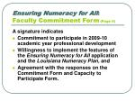 ensuring numeracy for all faculty commitment form page 6