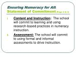 ensuring numeracy for all statement of commitment page 2 3
