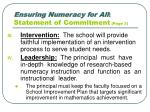 ensuring numeracy for all statement of commitment page 3