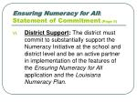 ensuring numeracy for all statement of commitment page 5